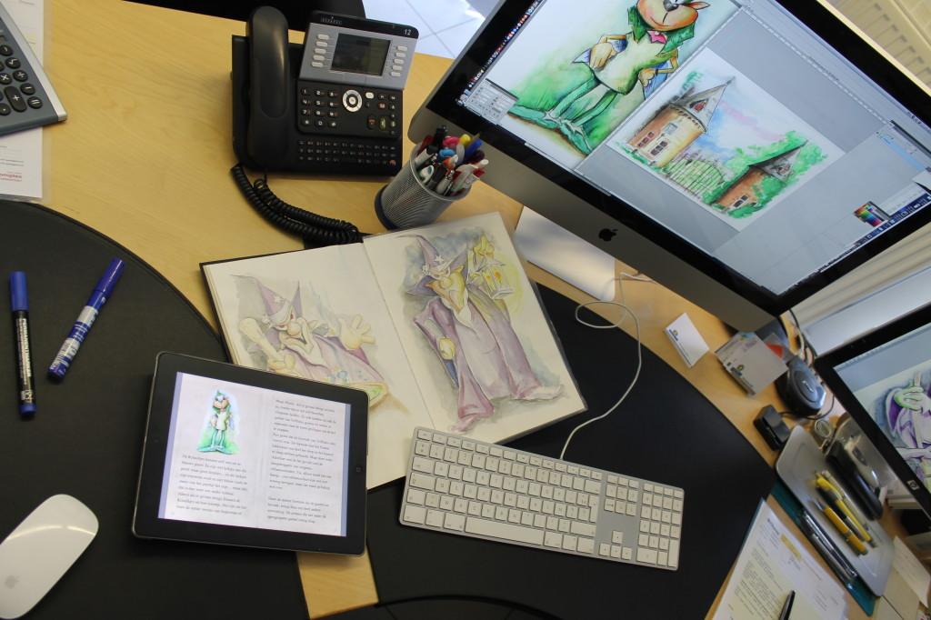 iMac en schetsboek Kriooltjes